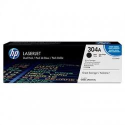 HP - HP CC530AD (304A) ORJİNAL SİYAH TONER İKİLİ PAKET