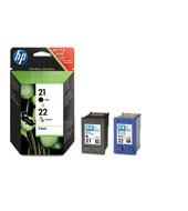 HP - HP SD367A Black/CMY Mürekkep Kartuş (21+22)