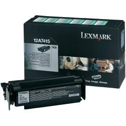Lexmark - LEXMARK 12A7415 ORJİNAL SİYAH TONER YÜK. KAP.