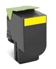 Lexmark - Lexmark CX510 (80C8XY0) Sarı Return Toner 4000 Sayfa