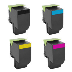 Lexmark - LEXMARK C540-41-42-43 Komple SET (CMYK) Muadil Toner