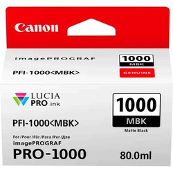 Canon - Canon PFI-1000 Matte Black Mürekkep Kartuş EUR/OCN (0545C001)