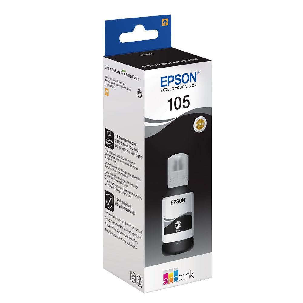 Epson 105 C13T00Q140 Siyah Orijinal Mürekkep