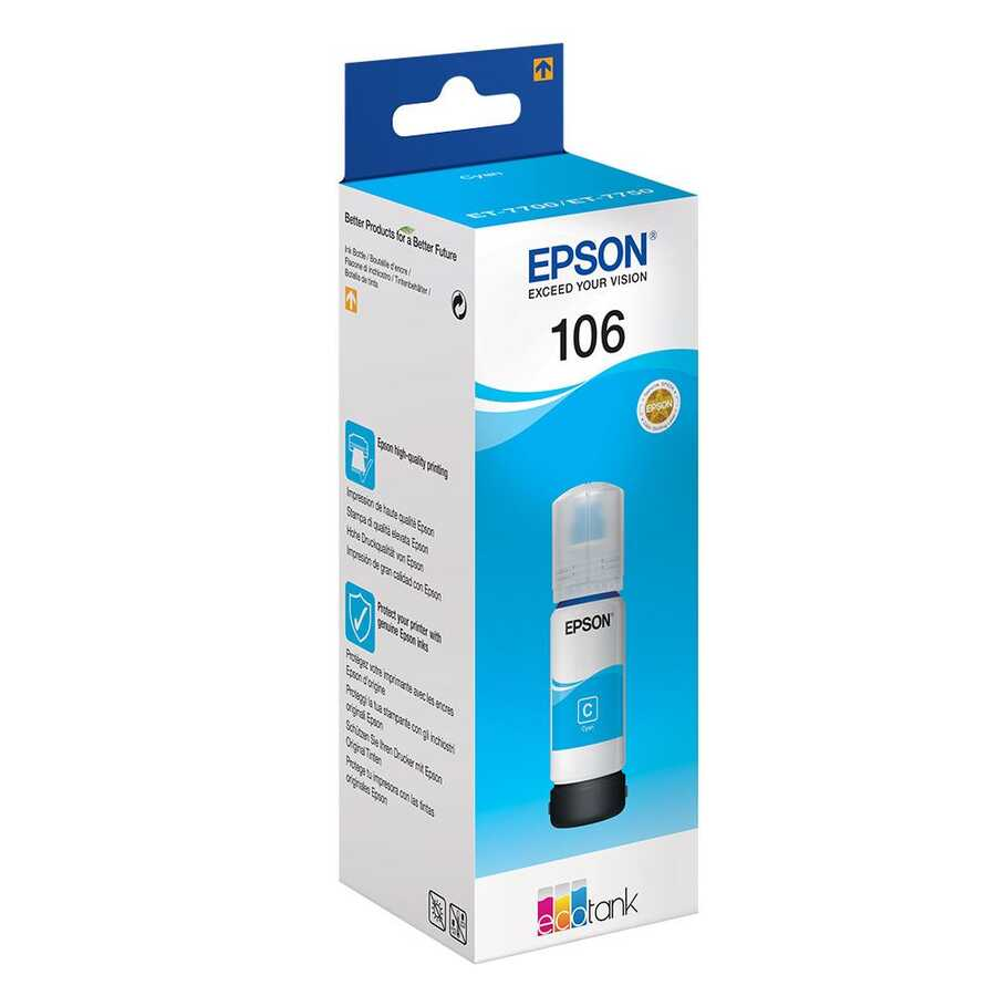 Epson 106-C13T00R240 Mavi Orijinal Mürekkep