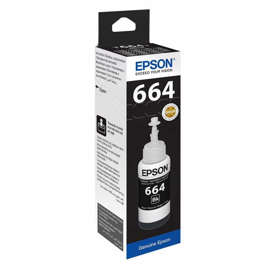 EPSON T6641 L100/ L200/ L300 (C13T66414A) SİYAH MÜREKKEP 70ML