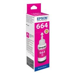Epson - EPSON T6643 L100/ L200/ L300 (C13T66434A) KIRMIZI MÜREKKEP 70ML
