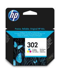 HP - HP 302 F6U65AE CMY Renkli Orjinal Mürekkep Kartuş