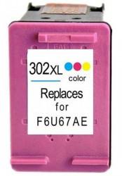 HP - HP-302XL F6U65AE Renkli Muadil Kartuş