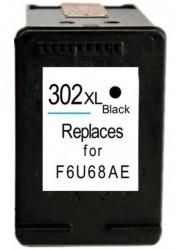 HP - HP-302XL F6U68AE Siyah Muadil Kartuş