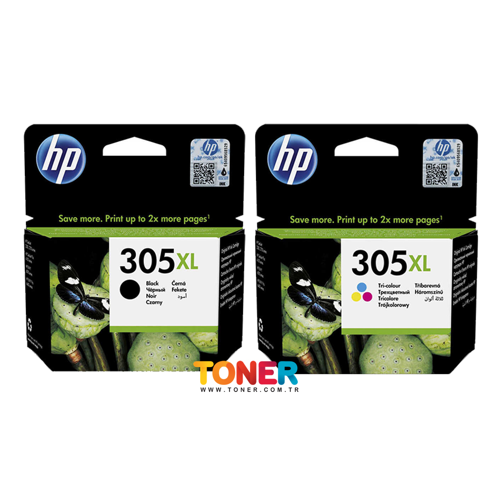 HP 305XL DeskJet 2710 Yüksek Kapasite Orjinal Kartuş Seti