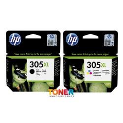 HP - HP 305XL DeskJet 2710 Yüksek Kapasite Orjinal Kartuş Seti