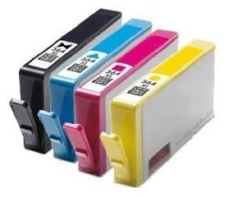 HP - HP 364XL Muadil Kartuş Seti Tüm Renkler