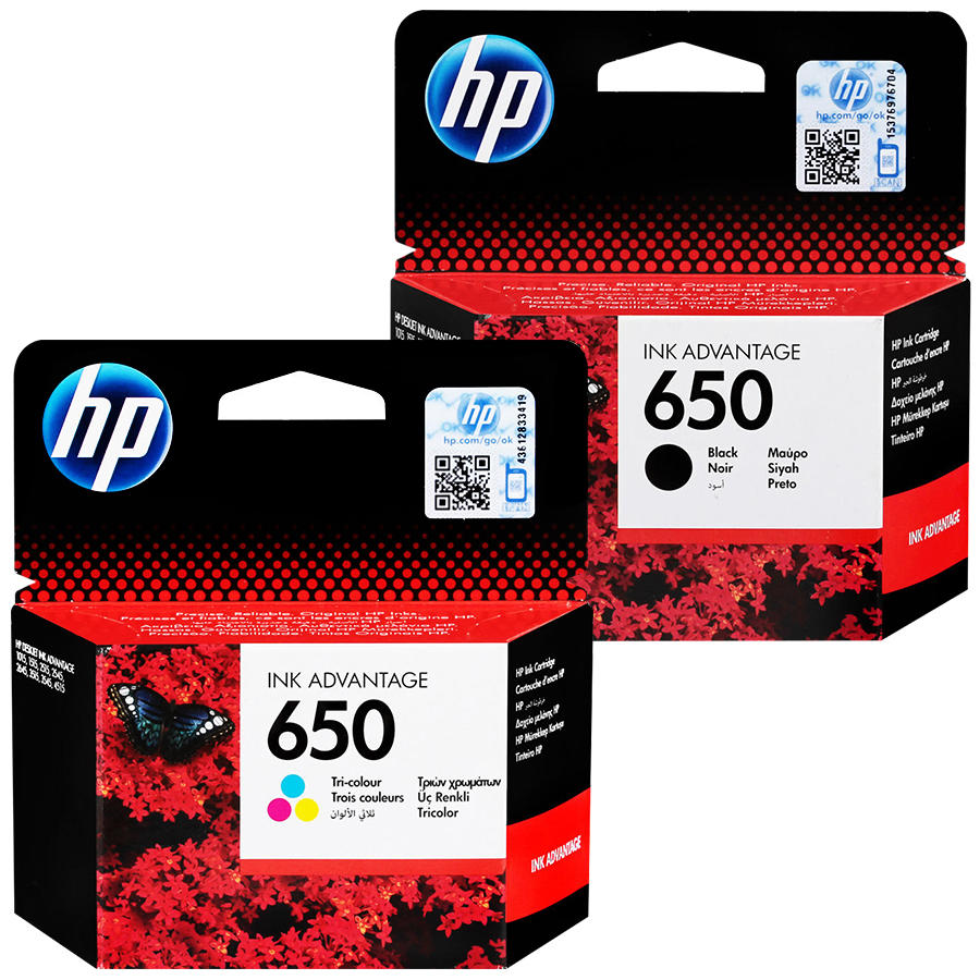 HP - HP 650 Kartuş Seti Siyah - Renkli CZ101A-CZ102A