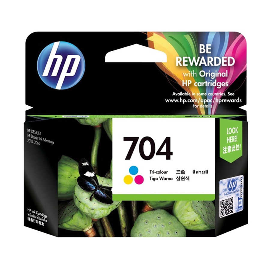 HP 704 CN693A Renkli Orijinal Kartuş Deskjet 2060