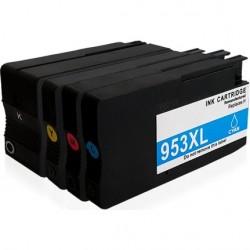 HP - HP 7720 Muadil Yüksek Kapasiteli Kartuş Seti Tüm Renkler