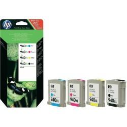 HP - HP 940XL (C2N93AE) Siyah, Renkli Paket Mürekkep Kartuş