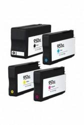 HP - HP 950XL 951XL Muadil Kartuş Seti Tüm Renkler