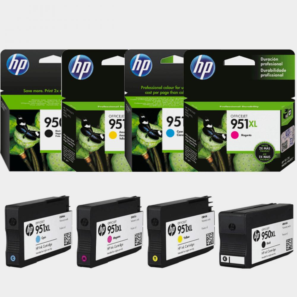 HP - HP 950XL-951XL Yüksek Kapasite Orjinal Kartuş Seti