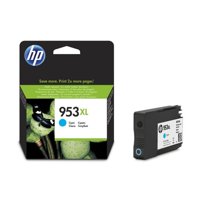 HP 953XL Yüksek Kapasiteli Mavi Orjinal Mürekkep Kartuşu