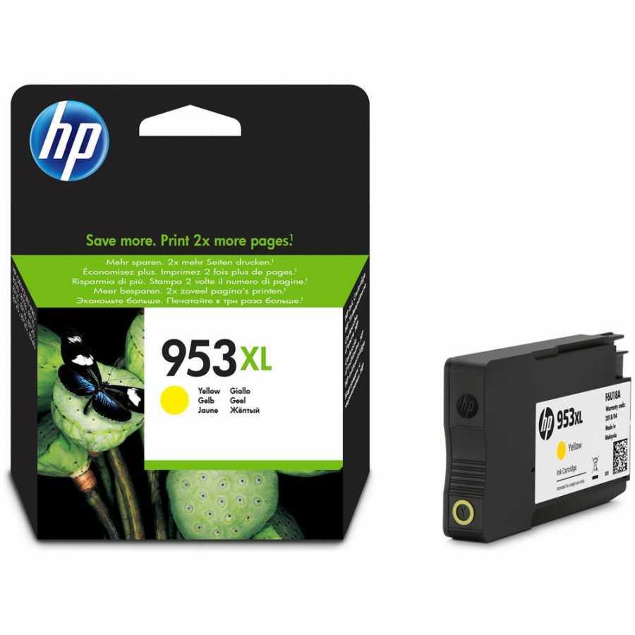 HP 953XL Yüksek Kapasiteli Sarı Orjinal Mürekkep Kartuşu