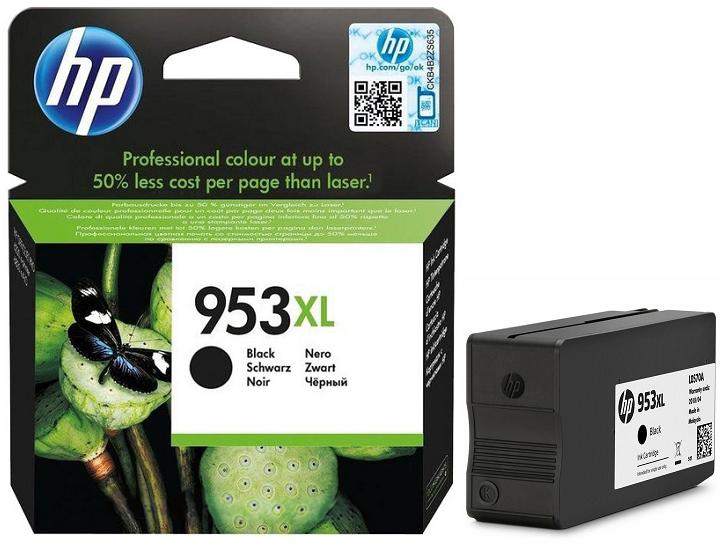 HP 953XL Yüksek Kapasiteli Siyah Orjinal Mürekkep Kartuşu