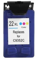 HP - HP C22XL / C9352 (22XL) Renkli Muadil Kartuş