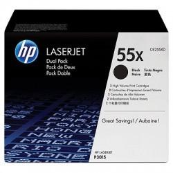 HP - HP CE255XD (55X) ORJİNAL SİYAH TONER YÜK. KAP. İKİLİ PAKET