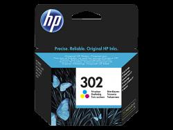 HP - HP F6U65AE CMY Renkli Mürekkep Kartuş (302)
