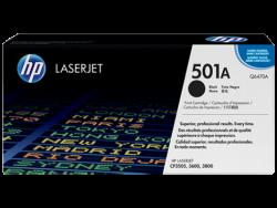 HP - HP Q6470A (501A) Siyah Orijinal Toner