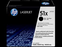 HP - HP Q7551X (51X) Siyah Orijinal Toner