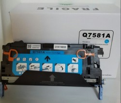 HP - HP Q7581A (503A) MAVİ Muadil Toner