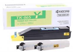 Kyocera - Kyocera Mita TK-865 Orjinal Sarı Toner