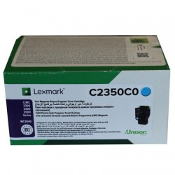 Lexmark - Lexmark C2425 Mavi Orjinal Toner C2350C0