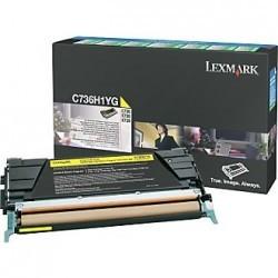 Lexmark - LEXMARK C73X-X73X (C736H1YG) ORJİNAL SARI TONER
