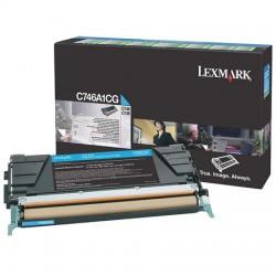 Lexmark - Lexmark C746 Mavi Orjinal Toner C746A1CG