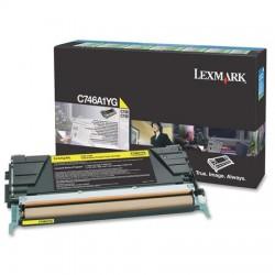 Lexmark - Lexmark C746 Sarı Orjinal Toner C746A1YG