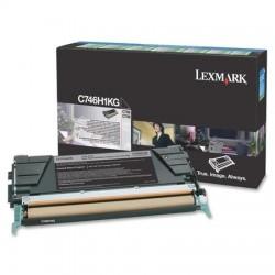 Lexmark - Lexmark C746 Siyah Orjinal Toner C746H1KG