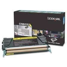 Lexmark - LEXMARK C748 (C748H1YG) ORJINAL SARI TONER YÜK. KAP.