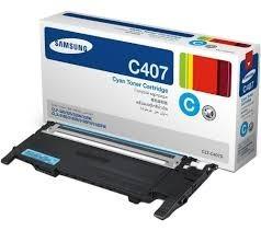 Samsung - SAMSUNG CLT-C407S ORJINAL MAVİ TONER